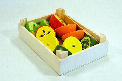 Caixa de frutas de cortar