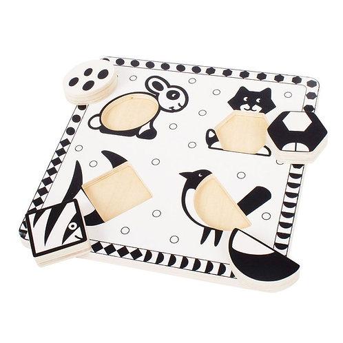Puzzle Preto & Branco animais