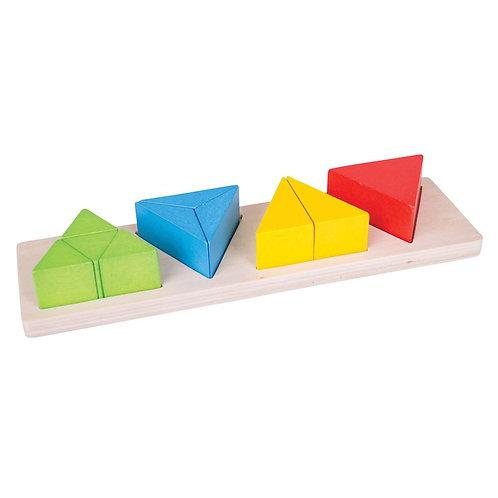 """Régua de fracções """"Triângulo"""""""