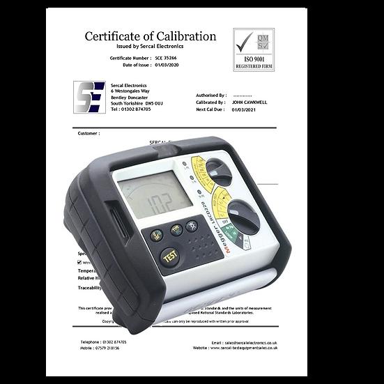 RCD Loop Combi Tester Calibration