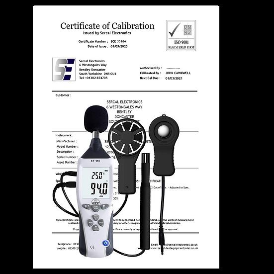 Environmental Mulitmeter Calibration