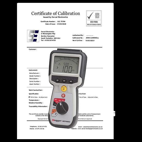 Insulation Continuity Tester Calibration