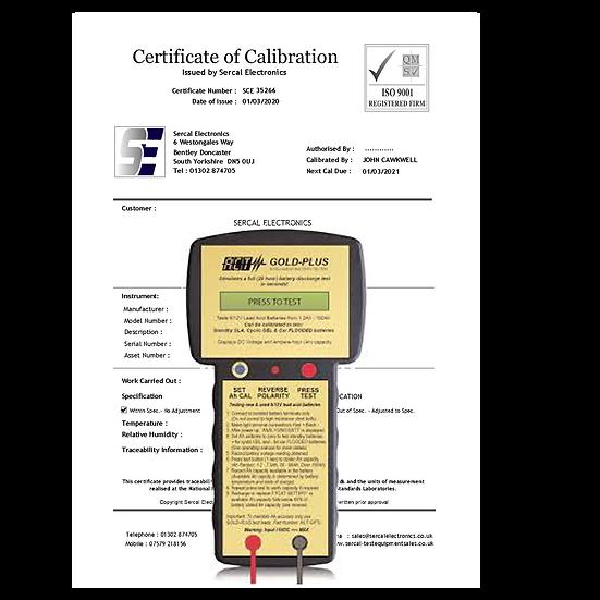 Battery Tester Calibration