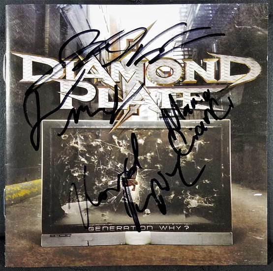 Diamond Plate Singed CD BookletGeneration Why? signed by all 4, excel cond