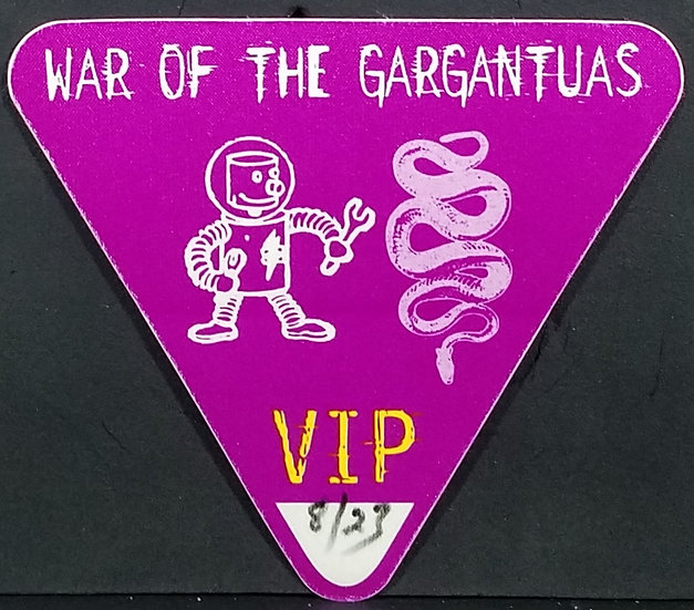 War Of The Gargantuas VIP Tour Pass, 94', Pantera/Zombie,Unused, Excel. Cond.