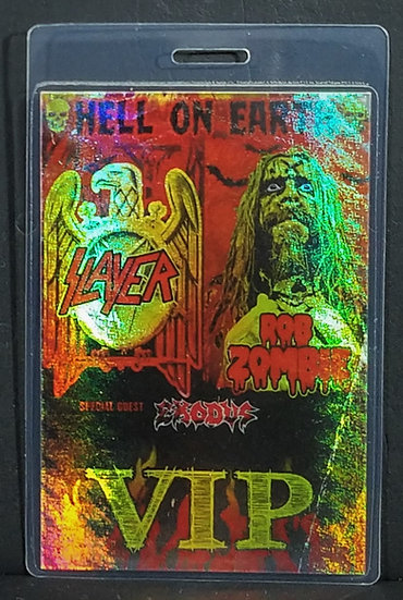 SOLD Slayer Rob Zombie VIP Backstage Laminate Hell On Earth 2011 Great Condition
