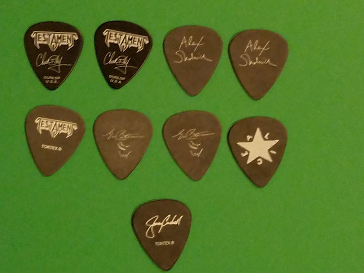 SOLD Testament Guitar Picks (8)