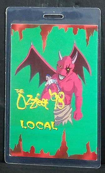 """SOLD Ozzfest 1998 Backstage Pass Laminate """"Local"""" - Nice!"""