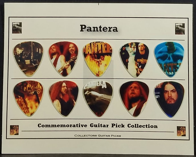 Pantera Commemorative Guitar Pick Collection VG Cond.