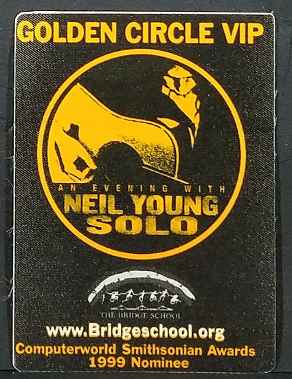 Unused NEIL YOUNG 1999 Golden Circle VIP Backstage Pass