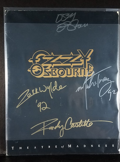 """Ozzy Osbourne fully signed""""Theatre of Madness"""" Tour Program"""