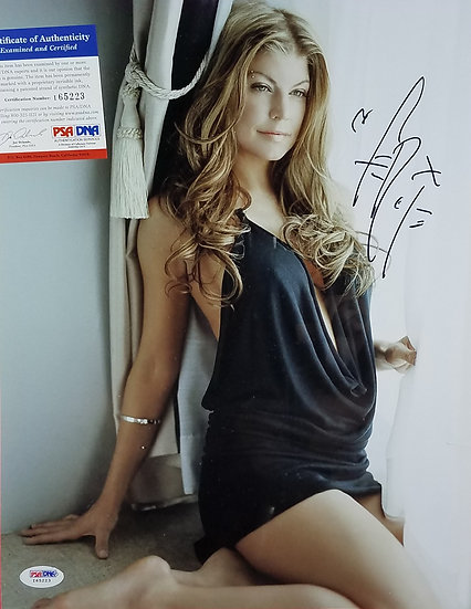 PSA/DNA authenticated  Black Eyed Peas/Fergie autographed  11 x 14 photo
