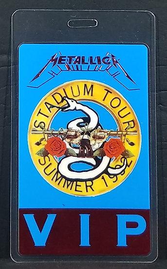 Metallica VIP Laminated Stadium Tour Pass, 1992