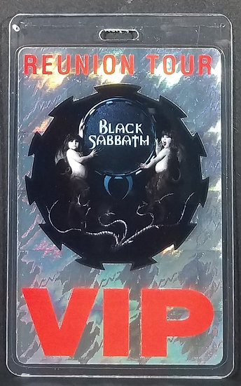 VIP Backstage Pass - BLACK SABBATH 1999 REUNION TOUR. La
