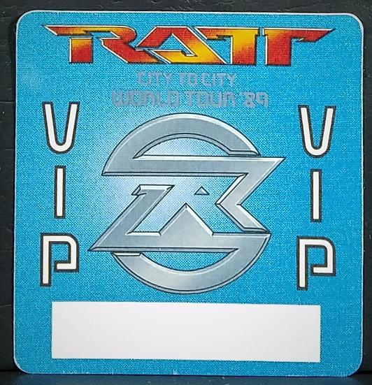 RATT VIP Backstage Pass 1989 World Tour Unused/ Excellent Cond.