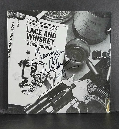 "Alice Cooper signed LP ""Lace and Whiskey"" - signed to George"