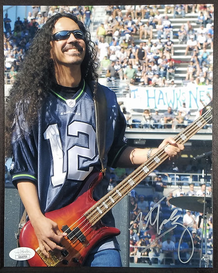 Alice In Chains Signed Photo by Mike Inez JSA Cert