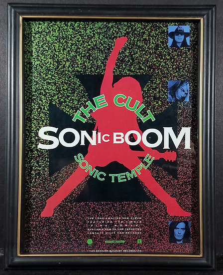 "SOLD The Cult Vintage ""Sonic Boom"" 1989 Print Advertisement, 6.5 x 10 inches"