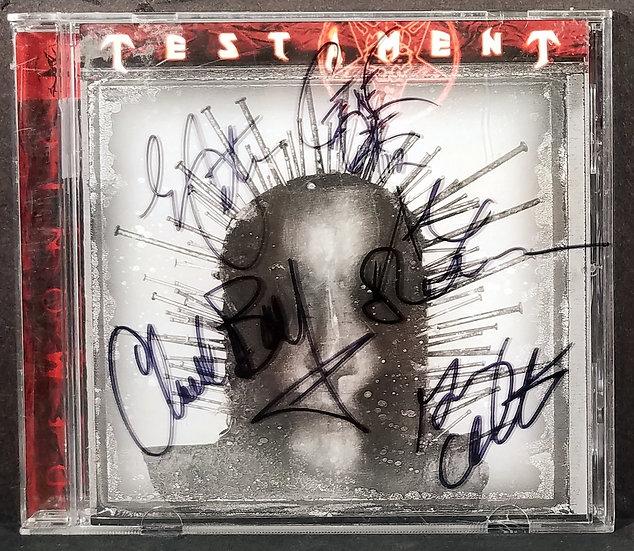 Testament signed CD Demonic on front case