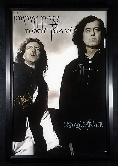 """Jimmy Page/Robert Plant signed """"No Quarter"""" Tour Poster"""