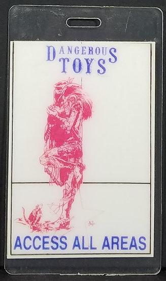 Dangerous Toys Band Vintage Backstage Pass/Laminate - Good Condition.