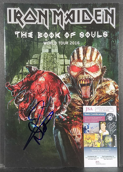 JSA Authenticated Iron Maiden Nicko McBrain autographed Book of Souls Tour Book