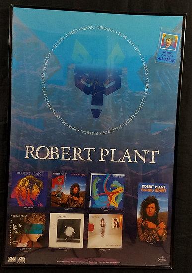 "Robert Plantsigned ""Manic Nirvana"" promotional poster"