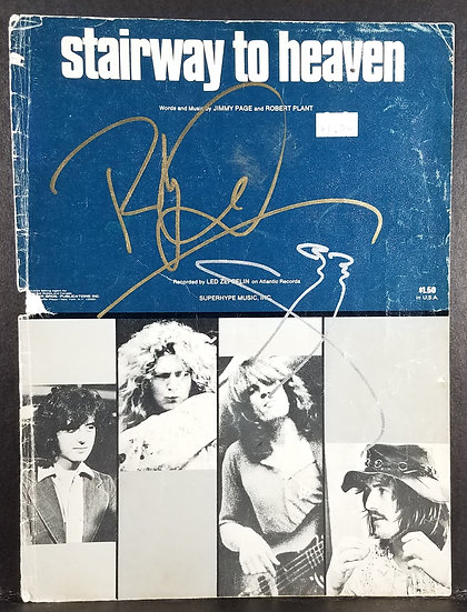 "Signed ""stairway to heaven sheet music cover"""