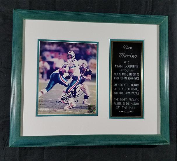 SOLD Miami Dolphins Dan Marino Commemorative Plaque, License # C 12484658