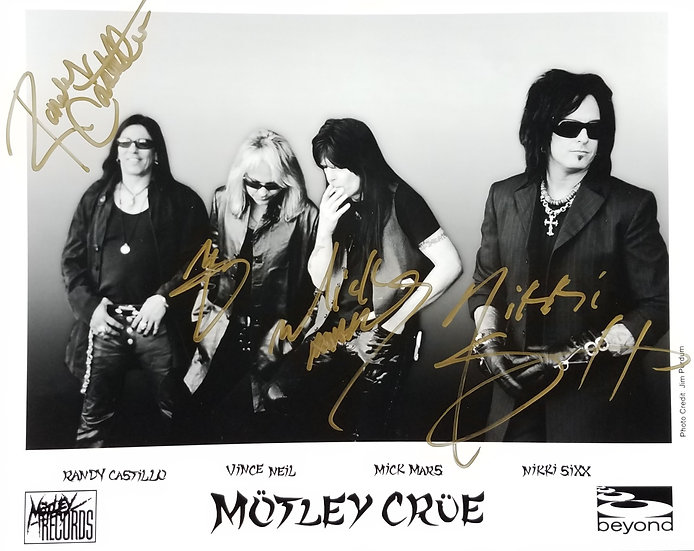 SOLD Motley Crue signed Randy Castillo (+3) Promotional Photo