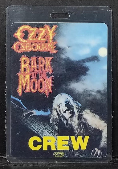"Ozzy Osbourne Vintage ""Bark At The Moon"" CREW pass"