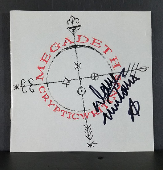"Megadeth signed CD ""Cryptic Writings"""