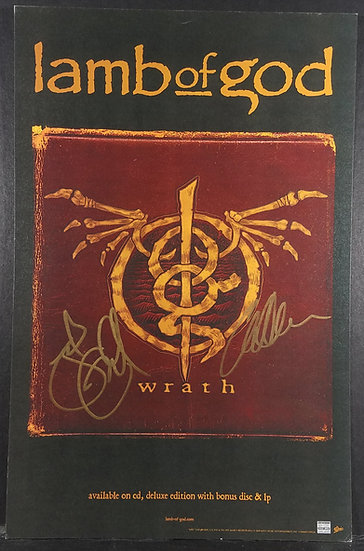 Lamb Of God Wrath Promo Poster Signed by 2 Cool!