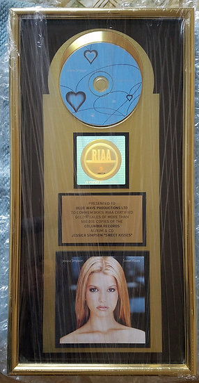 SOLD Rare/Unique All Original RIAA Gold Award - Jessica Simpson