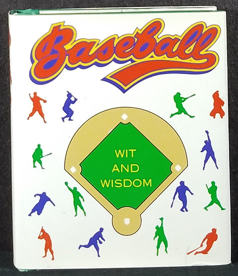 Baseball WIT AND WISDOM miniature hardcover book