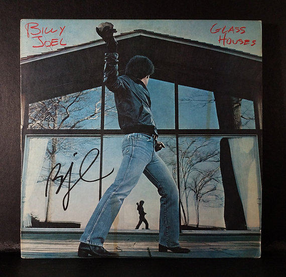 """Billy Joel signed """"Glass Houses"""" LP"""