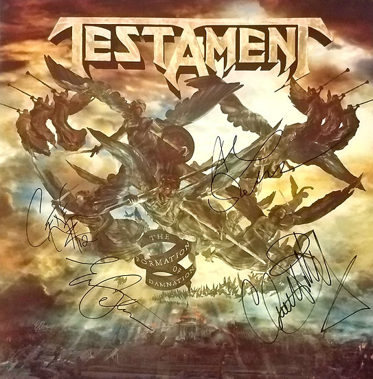 """Testamentsigned LP """"The Formation of Damnation"""""""