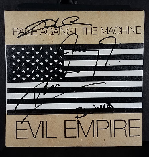 Rage Against The Machine signed 45 LP