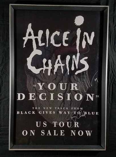 "Alice In Chains signed & framed ""Black Gives Way To Blue"""