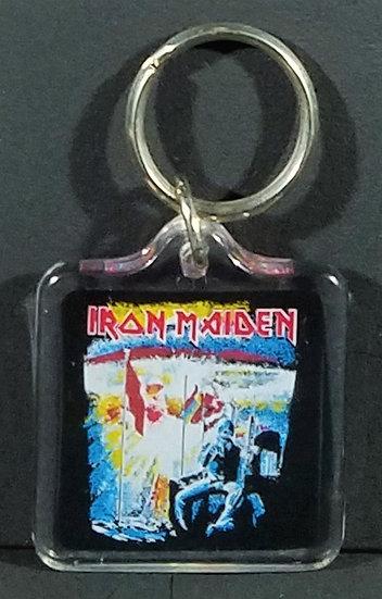 SOLD Iron Maiden Vintage 80s Keychain1 ½ x 2 1/2 Nice!