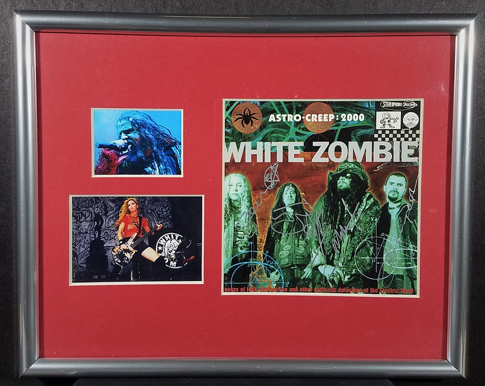 White Zombie FULLY signed CD cover by ALL, Astro-Creep: 2000