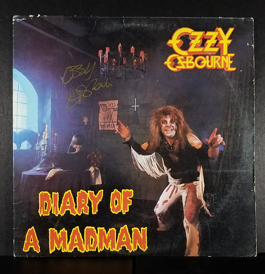 """Ozzy Osbourne signed """"Diary Of A Madman"""" LP"""
