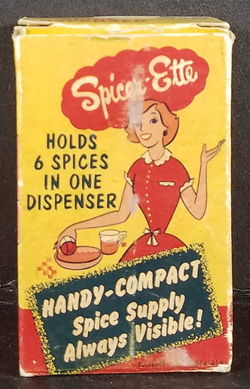"Vintage ""Spicer-Ette"" 6 in 1 Spice Dispenser & Original Box"