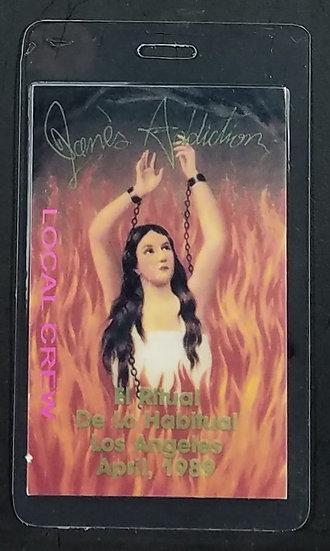 Janes Addiction LOCAL CREW Backstage Pass El Ritual De Lo Habitual LA 1989