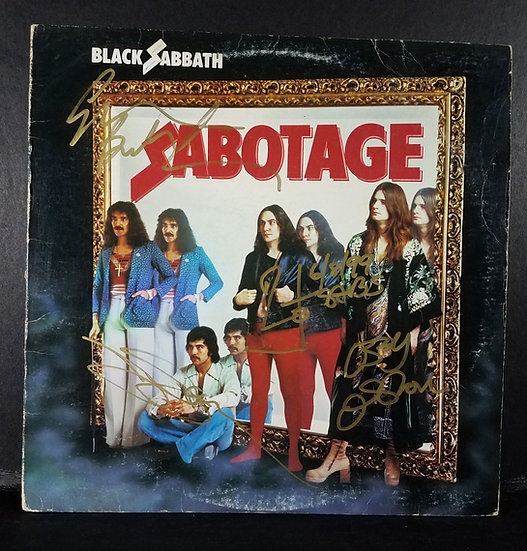 "Black Sabbath signed ""Sabotage"" LP"