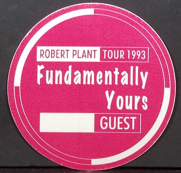 Plant/Page Tour 93' Backstage Pass 'Fundamentally Yours' Guest Excel Condition