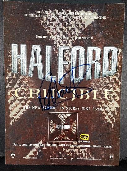 Halford signed Magazine Pages (Judas Priest)