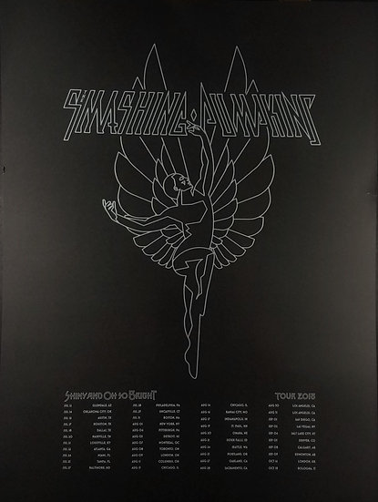 SOLD Official Smashing Pumpkins 2018 Tour PosterShiny And Oh So Bright