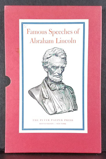Famous Speeches of Abraham Lincoln/Peter Pauper Press (1935)