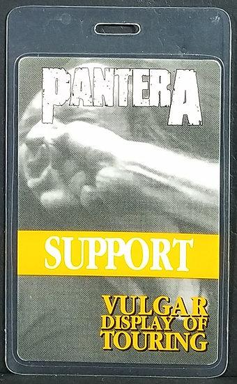 PANTERA Back Stage SUPPORT Pass/Laminate/Vulgar Tour